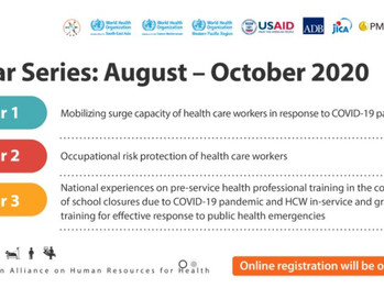 """11th AAAH Webinar Series 2020 """"Addressing Health Care Workers' Challenges in Response to COVID-19"""