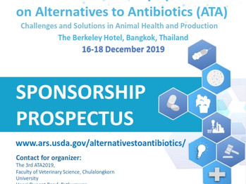 Call for Abstracts : The 3rd International Symposium on Alternatives to Antibiotics (ATA 2019)