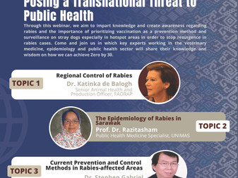 Webinar: The Re-emergence of Rabies Posing a Transnational Threat to Public Health