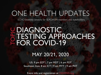 One Health Updates COVID-19 Response : DIAGNOSTIC TESTING APPROACHES FOR COVID-19