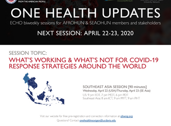 One Health Updates COVID-19 Response.