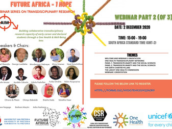 """Future Africa -1 HOPE "" webinar series"