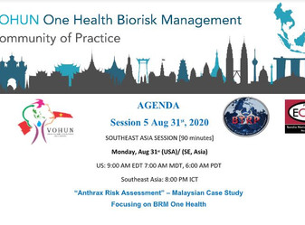 One Health Biorisk Management Case-Based Learning on Monday, August, 31,2020