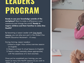 One Health Lessons: Lesson Leaders Program
