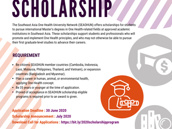 Call For Applications: SEAOHUN 2020 Scholarship