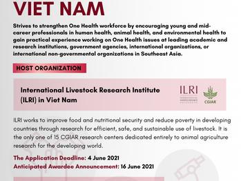 Call for Applications : SEAOHUN 2021 Fellowship in Viet Nam