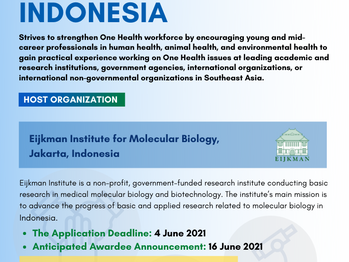 Call for Applications : SEAOHUN 2021 Fellowship in  Indonesia