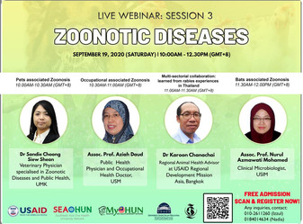 MyOHUN One Health Webinar series : Zoonotic Diseases
