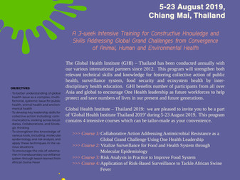 Global Health Institute Thailand 2019