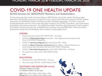 COVID-19 ONE HEALTH UPDATE