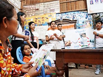 Raising Community Awareness of Rabies  by CAMBOHUN Students