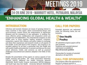 International Congress on One Health and AAVS-MyOHUN-WPSA (Malaysia) - SEAOHUN Meeting 2019