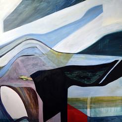 Untitled, acrylique sur toile, 100x100 cm