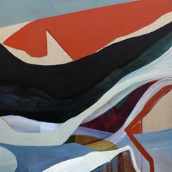 Streams, acrylique sur toile,100x80 cm