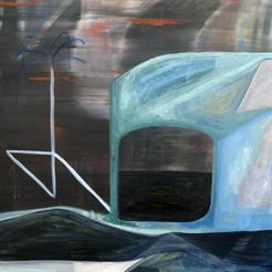 David Lynch, acrylique sur toile, 100x80 cm, 2020