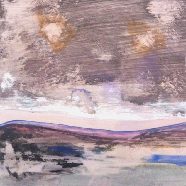 Horizon 9, aquarelle sur papier photo argentique A5