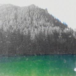 Green lake - 30x30 cm - tirage numérique sur papier Hahnemühle Photo Rag 308 g 100% coton