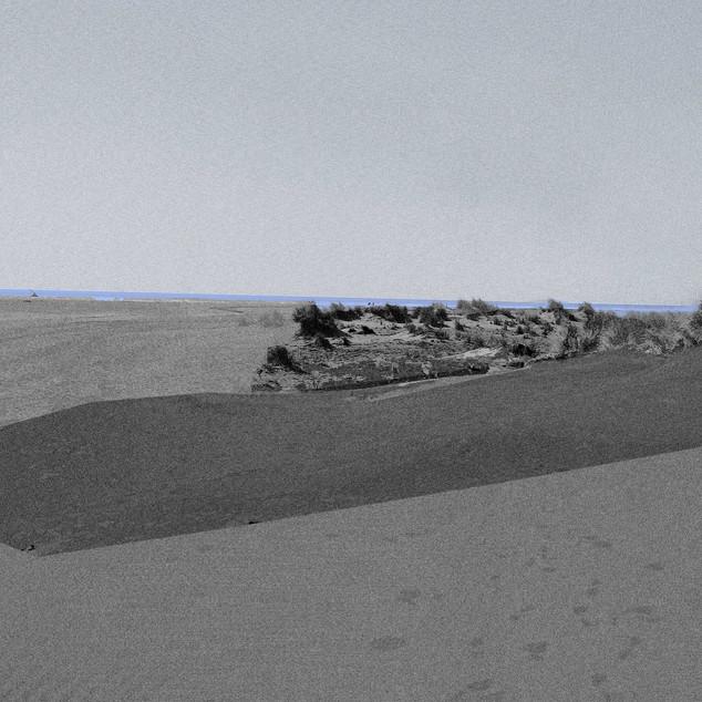La ligne bleue - 30x40 cm - tirage numérique sur papier Hahnemühle Photo Rag 308 g 100% coton