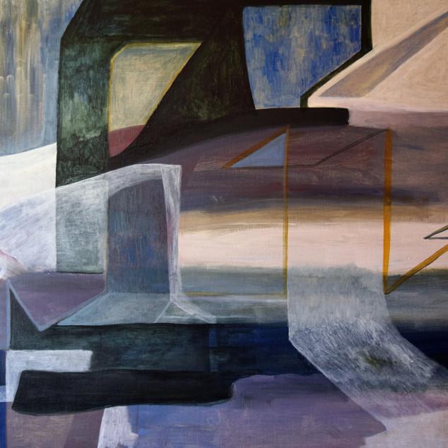 Ruins, acrylique sur toile, 80x120 cm, 2020