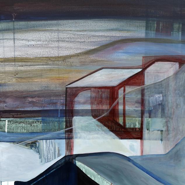 Endroit inconnu 2, acrylique sur toile, 70x50 cm,2020