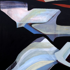 Submarine, acrylique sur toile, 70x50 cm, 2020