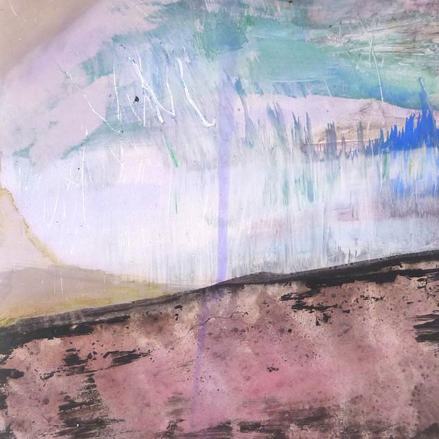 Horizon 3, aquarelle sur papier photo argentique A5