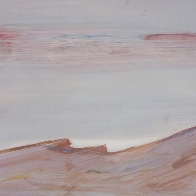 Horizon 7, aquarelle sur papier photo argentique A5