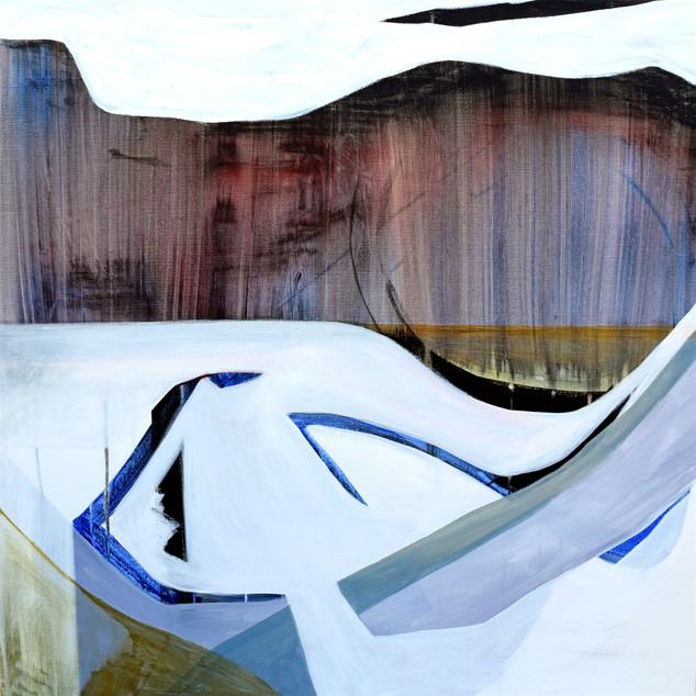 Frozen movement, acrylique sur toile, 80x80 cm, 2020