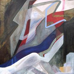 Endroit Inconnu, 100x80 cm, acrylique sur toile, 2020