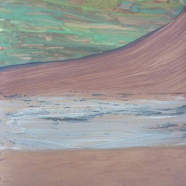 Horizon 15, aquarelle sur papier photo argentique A5