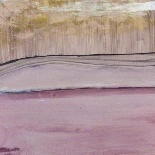 Horizon 11, aquarelle sur papier photo argentique A5