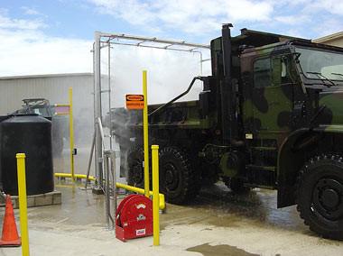 Marine Corps Vehicle Wash System