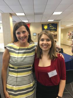 Mentor Danielle Alpert with 2018 TCNJ Fox Scholar Corinne Winters