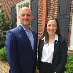 Mentor Kevin Hagan with 2019 TCNJ Fox Scholar Sarah Estok