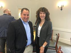 Mentor Doug Hritz with 2019 TCNJ Fox Scholar Rosemary Nivar