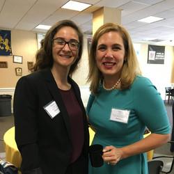 2018 TCNJ Fox Scholar Heather Atamian with Mentor Kay Elizabeth LiCausi