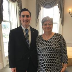 2019 TCNJ Fox Scholar Juan Carlos Belmonte with  Mentor Diane Scaccetti