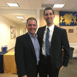 Mentor Kevin Hagan with 2018 TCNJ Fox Scholar Daniel Nason
