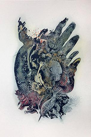 Genetic Explosions II (Fingers Head)