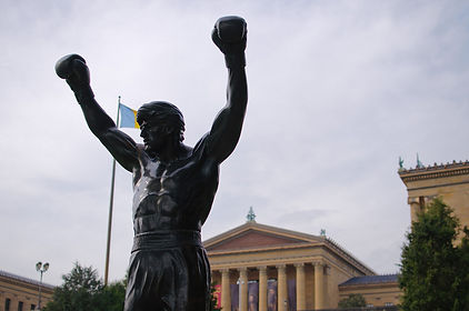 Rocky statue and philadelphia museum of