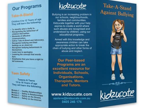 Kidzucate Flyers - 500 Tri-fold Brochures