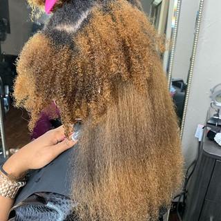 Shrinkage_☝🏽_#blowout_#curlyhair_#c
