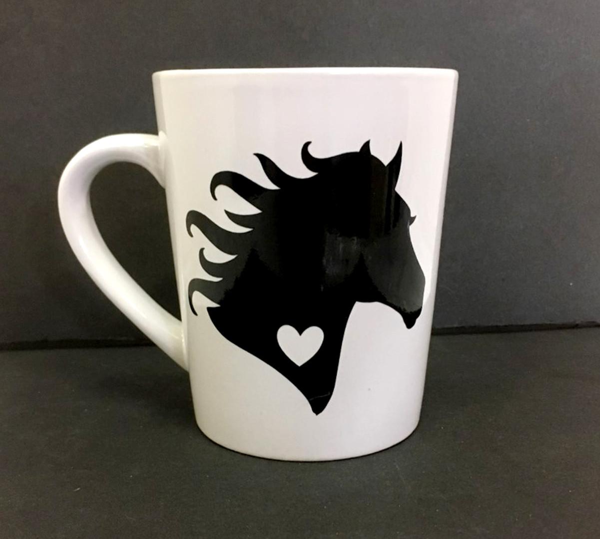 Horse silhouette mug