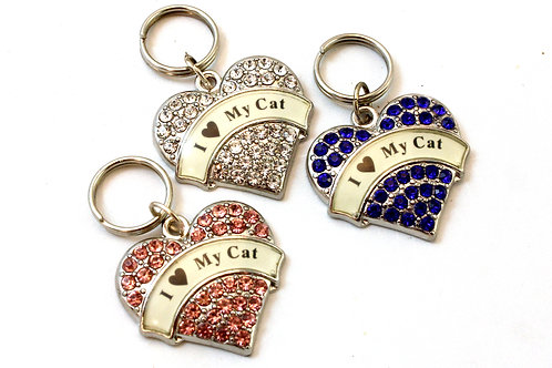 I 'Heart' My Cat' Pet Collar Tag