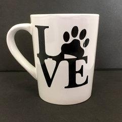 Love with a paw mug.