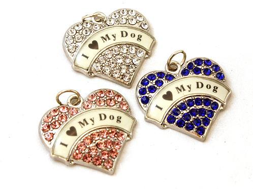 I 'Heart' My Dog Silver Heart Pendant