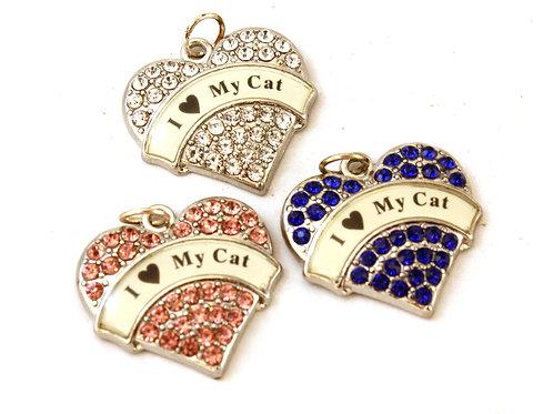 I 'Heart' My Cat Silver Heart Pendant