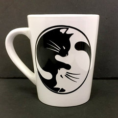 Cat Yin Yang Coffee Mug
