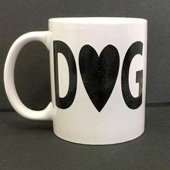 Dog with a Heart Mug