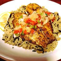 Tilapia over Rice Pilaf